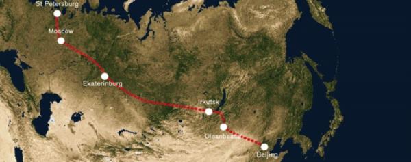 Trans Siberian Train Route